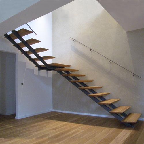 zweiholmtreppe mit angesattelten stufen. Black Bedroom Furniture Sets. Home Design Ideas